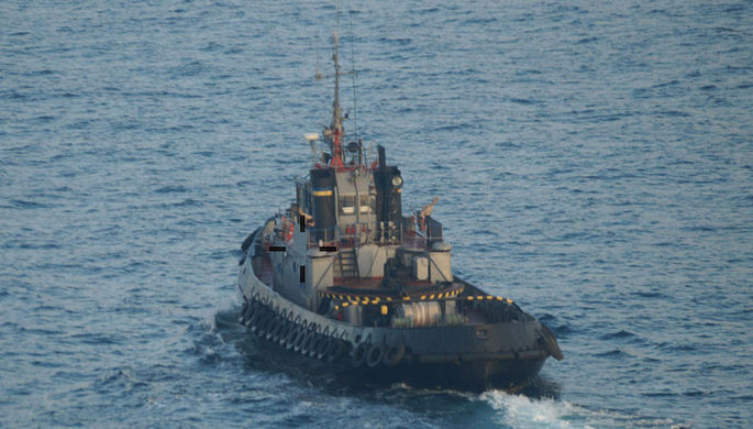 Корабль ВМС Украины загорелся на заводе Порошенко