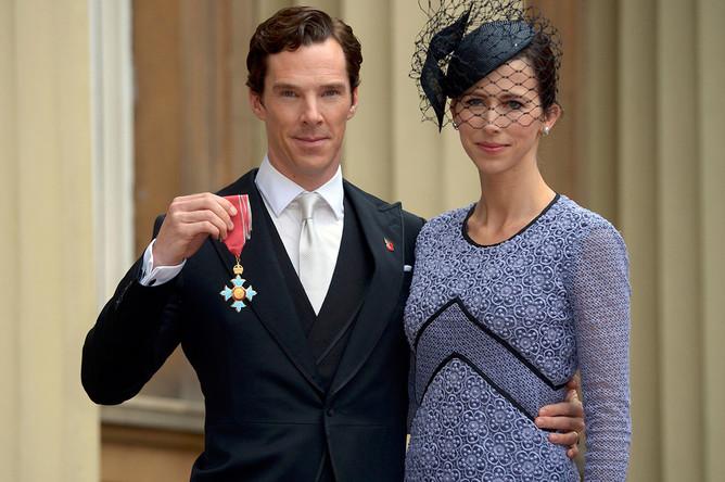 Бенедикт Камбербэтч с супругой