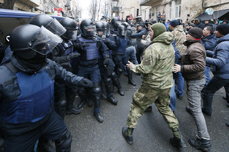 Столкновения сторонников Михаила Саакашвили с сотрудниками силовых структур в Киеве, 5 декабря 2017 года