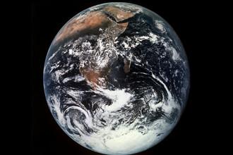 Вид на Землю из корабля миссии «Аполлон-17», декабрь 1972 года