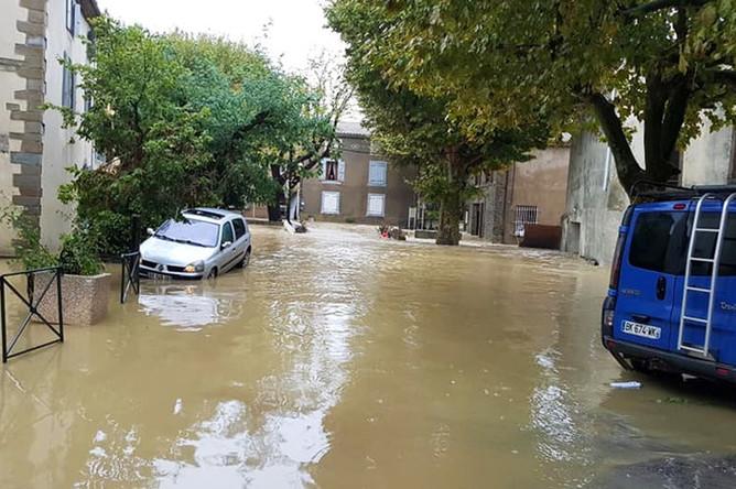 Последствия наводнения на юге Франции, октябрь 2018 года