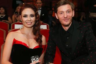 Телеведущие Павел Воля и Ляйсан Утяшева на церемонии вручения премии «Женщина года Glamour 2016»