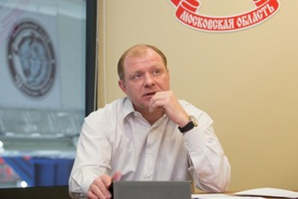 Алексей Жамнов в офисе чеховского клуба