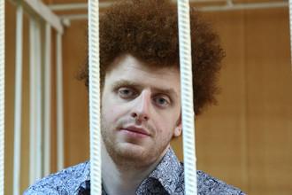 Актер Юрий Кулий, осужденный за применение насилия к полицейскому во время несогласованной акции 26 марта, на оглашении приговора в Тверском суде