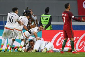 Матч сборных Мексики и Португалии на Кубке конфедераций закончился со счетом 2:2