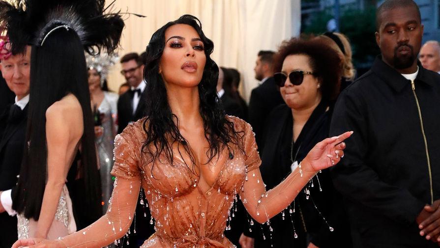 Ким Кардашьян и Канье Уэст на красной дорожке Met Gala-2019, 6 мая 2019 года