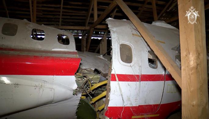 Обломки самолета Ту-154М, который потерпел крушение при заходе на посадку в аэропорту «Смоленск-Северный» в 2010 году. На борту находился президент Польши Лех Качиньский