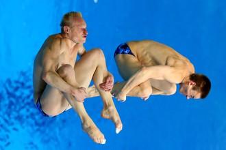 Илья Захаров и Евгений Кузнецов в прыжке