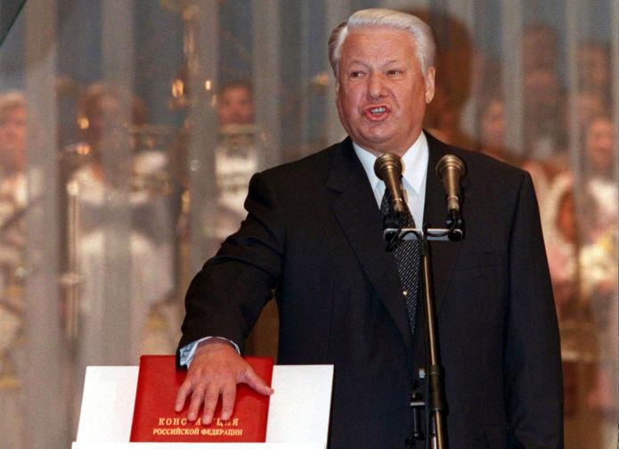 Торжественная церемония вступления в должность вновь избранного Президента России Бориса Ельцина, 9 августа 1996 года