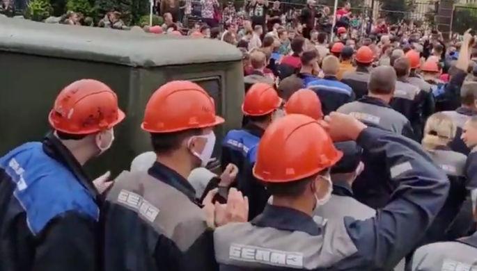 Митинг на «БелАзе», 13 августа 2020 года