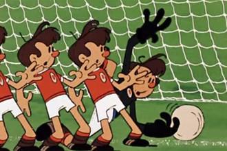 Кадр из советского мультфильма «Футбол»