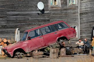 Село Усть-Уса в республике Коми, 2011 год