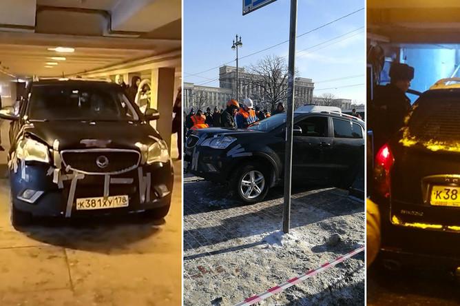 Ситуация у станции метро «Московская» в Санкт-Петербурге, 21 февраля 2018 года