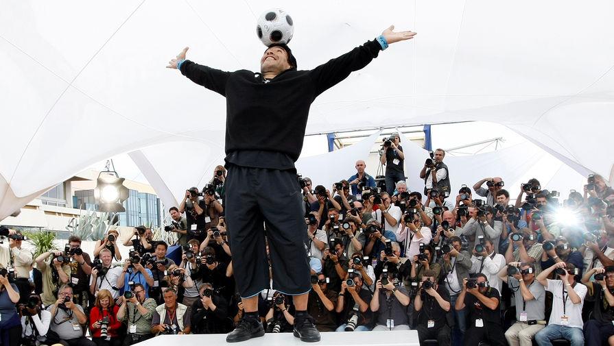 Диего Марадона на 61-м Каннском кинофестивале, 2008 год