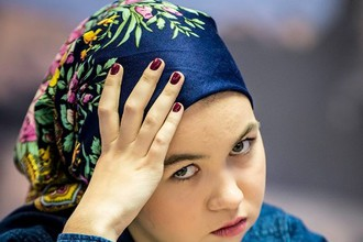 18-летняя российская шахматистка Александра Горячкина на чемпионате мира по классическим шахматам в Иране