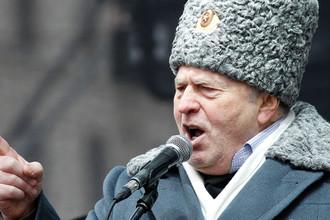 Глава ЛДПР Владимир Жириновский во время предвыборной кампании в 2012 году