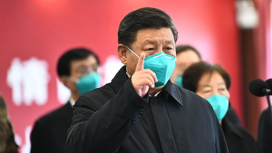 Председатель КНР Си Цзиньпин во время посещения Уханя, 10 марта 2020 года