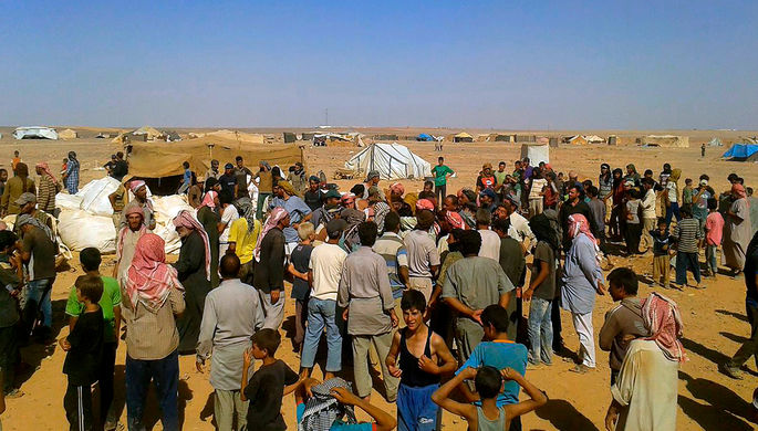 Лагерь «Эр-Рукбан» в Сирии