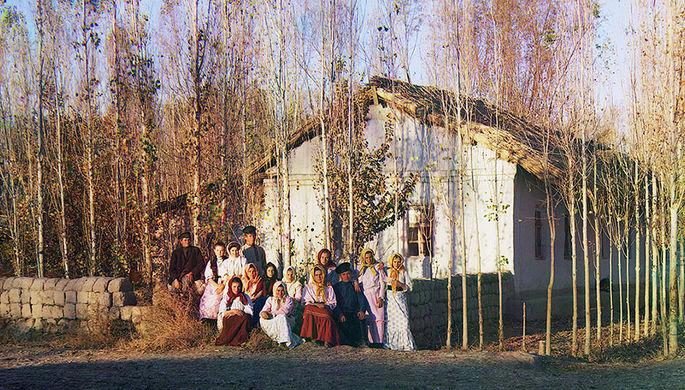 Русский переселенческий хутор под городом Петропавловском на севере Казахстана, 1911 год