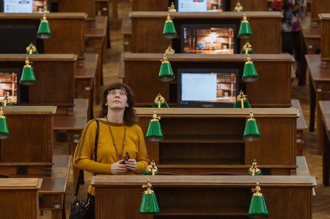 Читальный зал №3 Российской государственной библиотеки, открытый после реконструкции, 30 января 2018