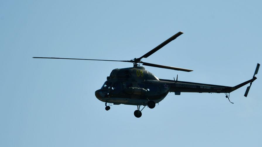 Вертолет Ми-2 упал во время взлета на Украине