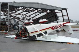 Последствия урагана Харви в Фултоне, штат Техас, США