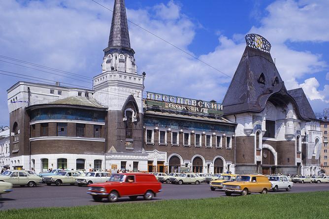 Здание Ярославского вокзала в Москве, 1974 год