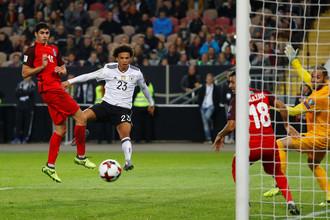 Эпизод матча Германия — Азербайджан