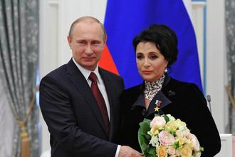 Президент Росии Владимир Путин и президент Всероссийской федерации художественной гимнастики Ирина Винер-Усманова