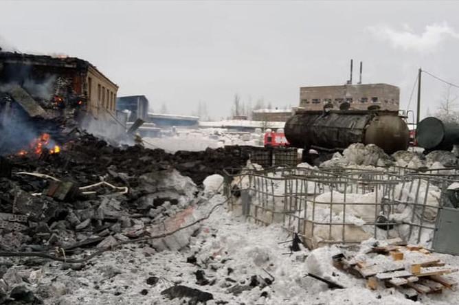 Последствия взрыва на заводе «Полипласт» в Ленинградской области, 16 января 2019 года