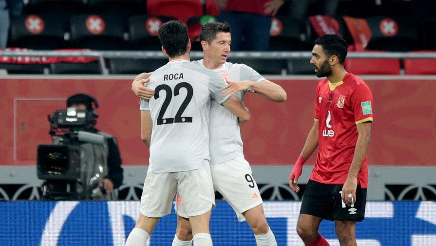 Эпизод матча «Аль-Ахли»- «Бавария»