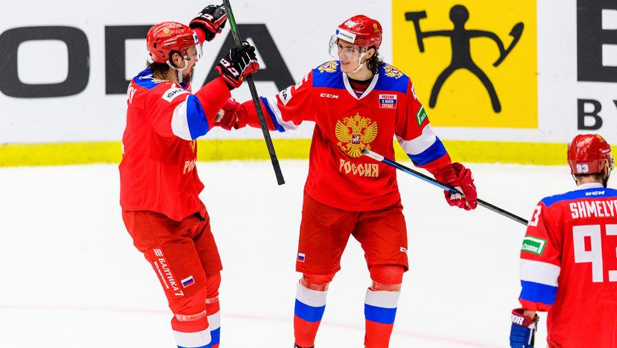 Сборная России по хоккею на шведском этапе Евротура