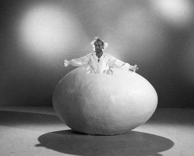 Кахи Кавсадзе на съемках фильма «Дон Кихот», 1988 год