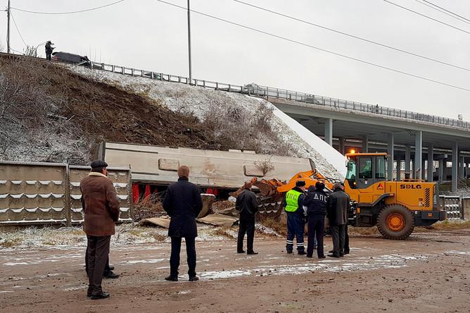 На месте ДТП с автобусом в Подмосковье, 21 ноября 2017 год