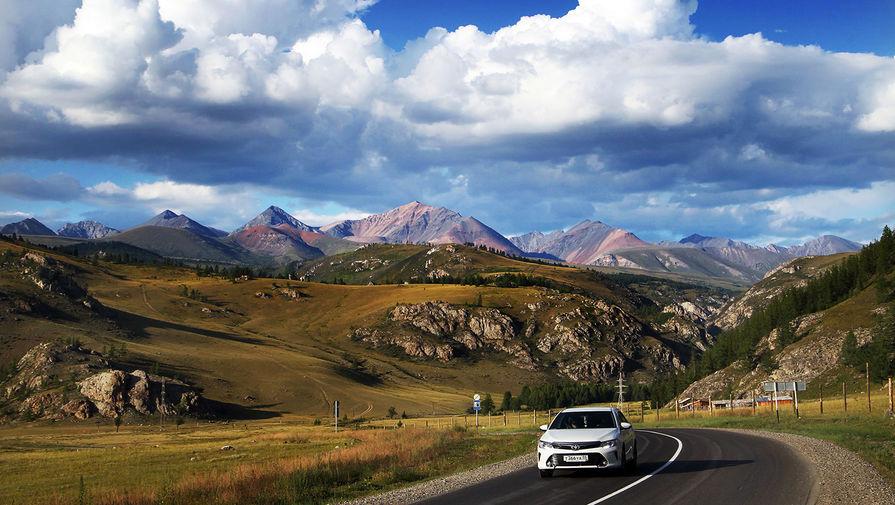 На федеральной автомобильной дороге «Чуйский тракт» в Республике Алтай