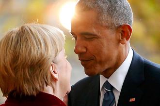 Встреча президента США Барака Обамы и канцлера ФРГ Ангелы Меркель в Берлине, 17 ноября 2016 года