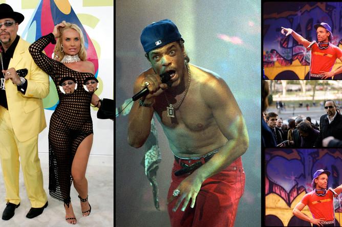 Ice-T в 2005, 1992, 1984 и 2016 гг, коллаж