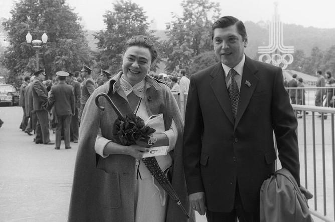 Дочь генсека ЦК КПСС Леонида Брежнева Галина и ее супруг Юрий Чурбанов