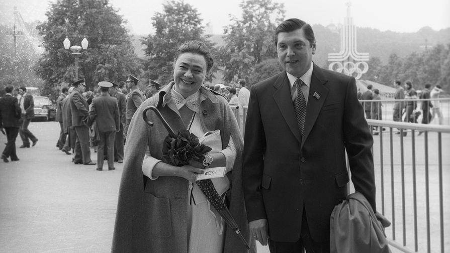Дочь генсека ЦК КПСС Леонида Брежнева Галина и ее супруг Юрий Чурбанов, 1988 год