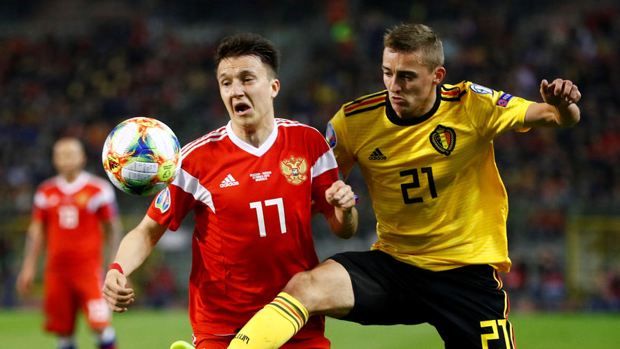 Александр Головин в матче Бельгия- Россия