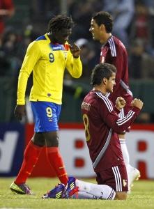 Венесуэльцы радуются после матча с Эквадором