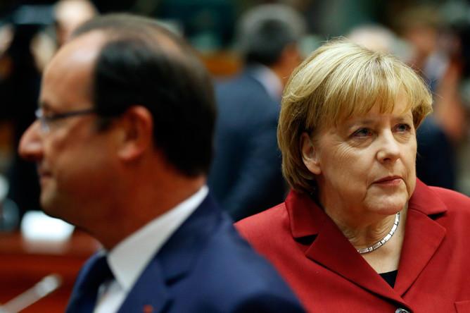 Ангела Меркель и Франсуа Олланд провели экстренную встречу перед началом саммита