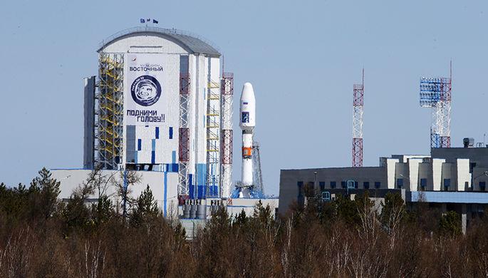 Запуск ракеты ракеты-носителя «Союз-2.1а» со спутниками на борту с космодрома «Восточный» в Амурской области, 1 февраля 2018 года