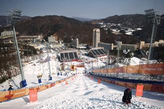 Трасса для соревнований по фристайлу в Пхенчхане