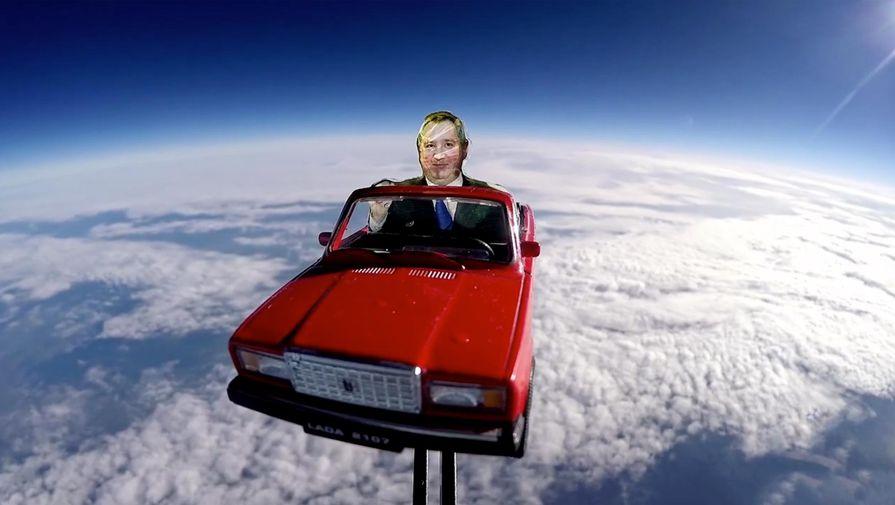 Илон Маск отреагировал на запуск картонного Рогозина на