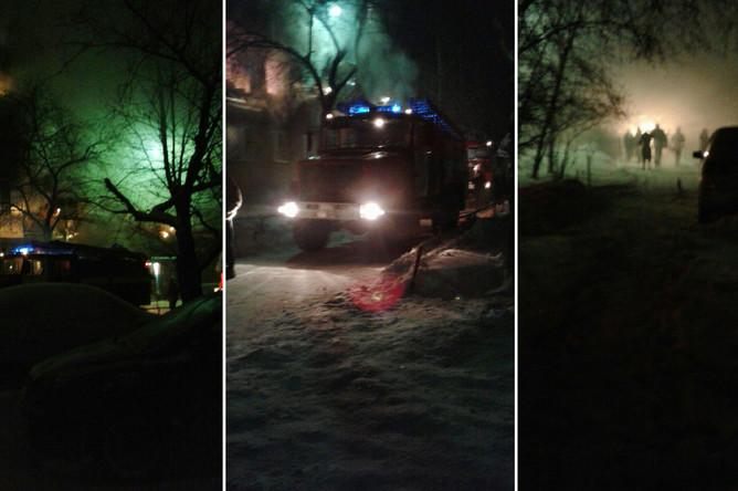 На месте взрыва в жилом пятиэтажном доме в Омске, 12 января 2018 года