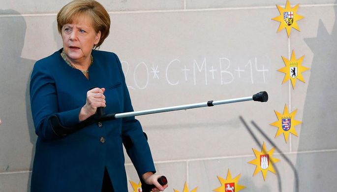 Канцлер Германии Ангела Меркель, январь 2014 года