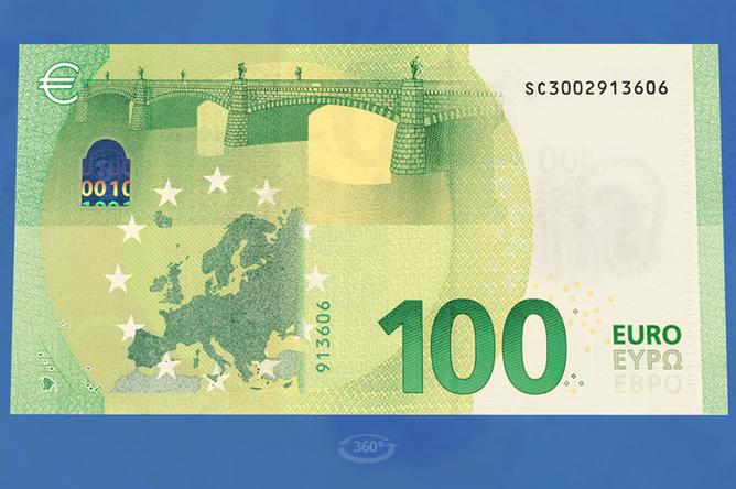 Новые банкнота в размере €100