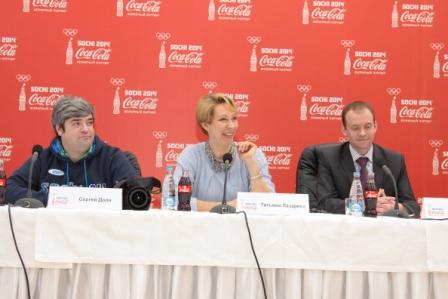 Пресс-конференция, посвященная прибытию олимпийского факела