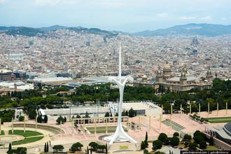 Барселона сверху